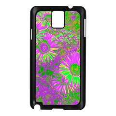 Amazing Neon Flowers A Samsung Galaxy Note 3 N9005 Case (black)