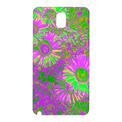 Amazing Neon Flowers A Samsung Galaxy Note 3 N9005 Hardshell Back Case