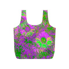 Amazing Neon Flowers A Full Print Recycle Bags (s)