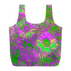 Amazing Neon Flowers A Full Print Recycle Bags (l)