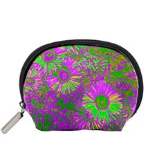 Amazing Neon Flowers A Accessory Pouches (small)