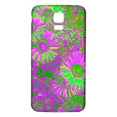 Amazing Neon Flowers A Samsung Galaxy S5 Back Case (white)