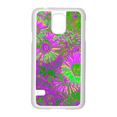 Amazing Neon Flowers A Samsung Galaxy S5 Case (white)