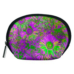 Amazing Neon Flowers A Accessory Pouches (medium)