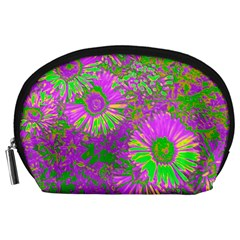 Amazing Neon Flowers A Accessory Pouches (large)