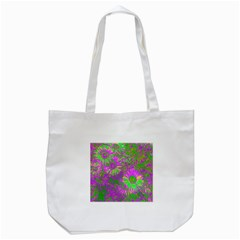 Amazing Neon Flowers A Tote Bag (white)