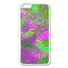 Amazing Neon Flowers A Apple Iphone 6 Plus/6s Plus Enamel White Case