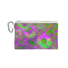 Amazing Neon Flowers A Canvas Cosmetic Bag (s)