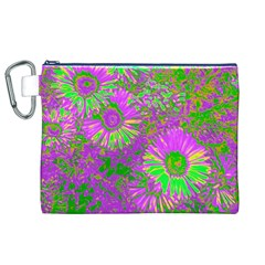 Amazing Neon Flowers A Canvas Cosmetic Bag (xl)
