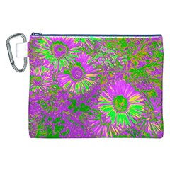 Amazing Neon Flowers A Canvas Cosmetic Bag (xxl)