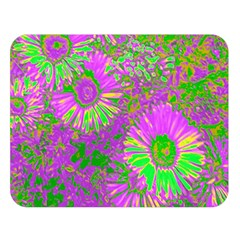 Amazing Neon Flowers A Double Sided Flano Blanket (large)