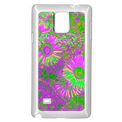 Amazing Neon Flowers A Samsung Galaxy Note 4 Case (white)