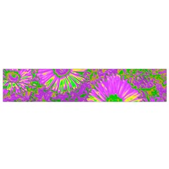 Amazing Neon Flowers A Flano Scarf (small)
