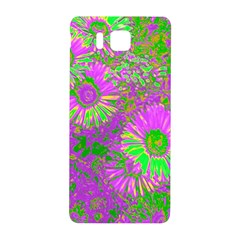 Amazing Neon Flowers A Samsung Galaxy Alpha Hardshell Back Case
