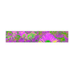 Amazing Neon Flowers A Flano Scarf (mini)