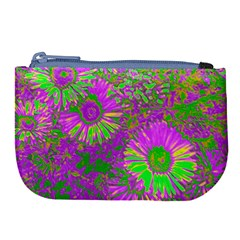 Amazing Neon Flowers A Large Coin Purse