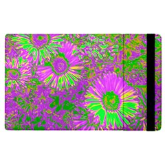 Amazing Neon Flowers A Apple Ipad Pro 12 9   Flip Case