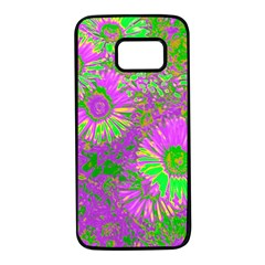 Amazing Neon Flowers A Samsung Galaxy S7 Black Seamless Case