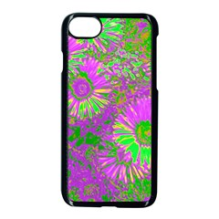 Amazing Neon Flowers A Apple Iphone 7 Seamless Case (black)