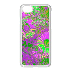 Amazing Neon Flowers A Apple Iphone 7 Seamless Case (white)