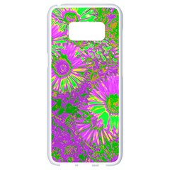 Amazing Neon Flowers A Samsung Galaxy S8 White Seamless Case
