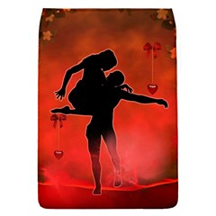 Dancing Couple On Red Background With Flowers And Hearts Flap Covers (s)