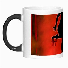 Dancing Couple On Red Background With Flowers And Hearts Morph Mugs