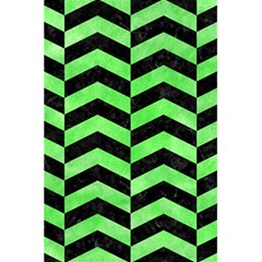 Chevron2 Black Marble & Green Watercolor 5 5  X 8 5  Notebooks