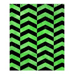 Chevron2 Black Marble & Green Watercolor Shower Curtain 60  X 72  (medium)