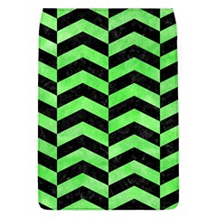 Chevron2 Black Marble & Green Watercolor Flap Covers (l)