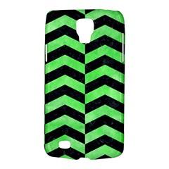Chevron2 Black Marble & Green Watercolor Galaxy S4 Active