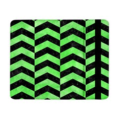 Chevron2 Black Marble & Green Watercolor Samsung Galaxy Tab Pro 8 4  Flip Case