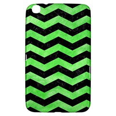 Chevron3 Black Marble & Green Watercolor Samsung Galaxy Tab 3 (8 ) T3100 Hardshell Case