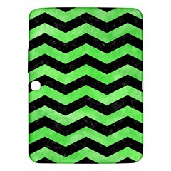 Chevron3 Black Marble & Green Watercolor Samsung Galaxy Tab 3 (10 1 ) P5200 Hardshell Case