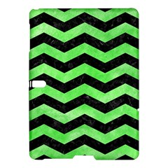 Chevron3 Black Marble & Green Watercolor Samsung Galaxy Tab S (10 5 ) Hardshell Case