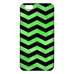 Chevron3 Black Marble & Green Watercolor Iphone 6 Plus/6s Plus Tpu Case