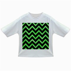 Chevron9 Black Marble & Green Watercolor Infant/toddler T Shirts