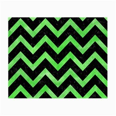Chevron9 Black Marble & Green Watercolor Small Glasses Cloth