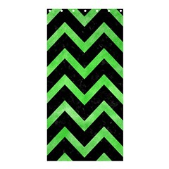 Chevron9 Black Marble & Green Watercolor Shower Curtain 36  X 72  (stall)