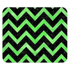 Chevron9 Black Marble & Green Watercolor Double Sided Flano Blanket (small)