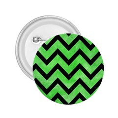Chevron9 Black Marble & Green Watercolor (r) 2 25  Buttons