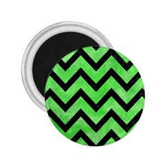 Chevron9 Black Marble & Green Watercolor (r) 2 25  Magnets