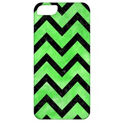 Chevron9 Black Marble & Green Watercolor (r) Apple Iphone 5 Classic Hardshell Case