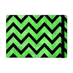 Chevron9 Black Marble & Green Watercolor (r) Ipad Mini 2 Flip Cases
