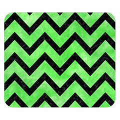 Chevron9 Black Marble & Green Watercolor (r) Double Sided Flano Blanket (small)