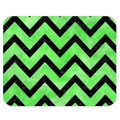Chevron9 Black Marble & Green Watercolor (r) Double Sided Flano Blanket (medium)