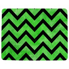 Chevron9 Black Marble & Green Watercolor (r) Jigsaw Puzzle Photo Stand (rectangular)