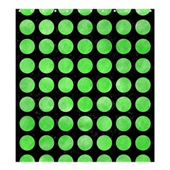 Circles1 Black Marble & Green Watercolor Shower Curtain 66  X 72  (large)