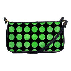 Circles1 Black Marble & Green Watercolor Shoulder Clutch Bags
