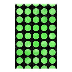 Circles1 Black Marble & Green Watercolor Shower Curtain 48  X 72  (small)